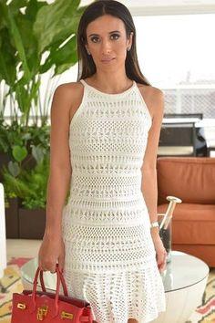 Vestido Tricô Sereia Off White