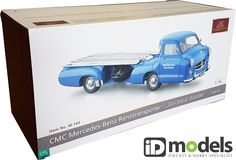 "CMC CMC Mercedes-Benz Racing Car Transporter ""The blue Wonder"", REVISED EDITION For years, the ""Blue Wonder"" was one of our best sellers. Diecast Models, Mercedes Benz, 18th, Racing, Blue, Lace"