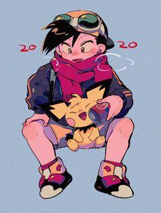 Pokemon Manga, Pokemon Fan Art, Cute Pokemon, Pokemon Stuff, Nintendo Characters, Manga Characters, Watercolor Wolf, Pokemon Special, Gold Pokemon