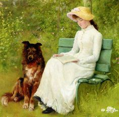 Edwin Harris A Quiet Read painting for sale - Edwin Harris A Quiet Read is handmade art reproduction; You can shop Edwin Harris A Quiet Read painting on canvas or frame. Reading Art, Woman Reading, Animal Paintings, Paintings For Sale, Louis Aragon, Quiet Moments, I Love Books, Dog Art, Female Art