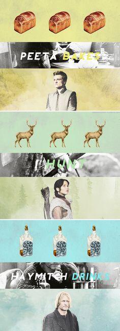 """Peeta bakes. I hunt. Haymitch drinks until the liquor runs out."" - Katniss Everdeen, #Mockingjay"