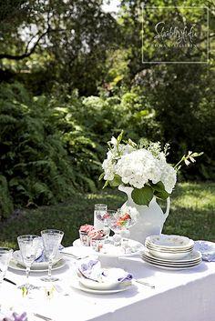 Spring Al Fresco Table Setting Ideas - from Shabbyfufu.