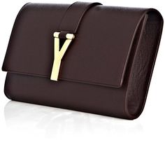 YVes SAint Laurent Chyc Grainedleather Clutch