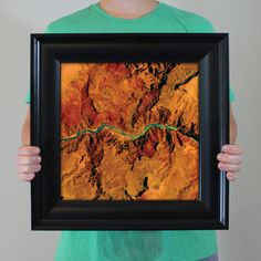 Abstract satellite art print of Grand Canyon National Park by City Prints Map Art. Many of our biggest adventures are found beyond the walls and concrete that surround us. The Adventure series from City Prints is for those who are most comfortable off the beaten path. We use satellite imagery to create stunning compositions of the world's most thrilling locations. They look like abstract modern art at first glance and tie you to the memories of the place.