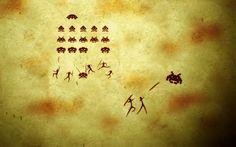 Fonds d'écran Jeux Vidéo > Fonds d'écran Space Invaders Fresque Space Invaders par buddysier - Hebus.com