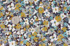 aqua, gray, and mustard || fabric