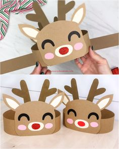 Reindeer Headband Craft For Kids - Christmas Handicrafts - .-Reindeer Headband Craft For Kids – Weihnachtsbasteleien – Reindeer Headband Craft For Kids – Christmas crafts … - Christmas Activities For Kids, Winter Crafts For Kids, Christmas Fun, Reindeer Christmas, Kindergarten Christmas Crafts, Reindeer Craft, Christmas Nails, Christmas Videos, Reindeer Food
