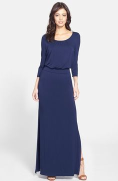 FELICITY & COCO Back Cutout Jersey Blouson Maxi Dress (Nordstrom Exclusive) available at #Nordstrom