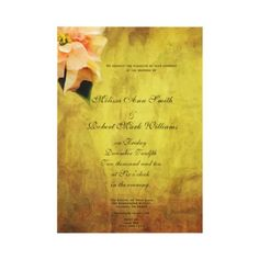 White Poinsettia Christmas Wedding Invitations