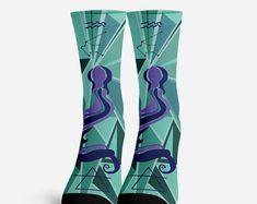 Foxy Socks Funky footwear fantastic coffee mugs. by foxandfogo Owl Socks, Custom Socks, Crazy Socks, Funny Socks, Unicorn Gifts, Colorful Socks, Astrology Zodiac, Country Girls, Printing Services