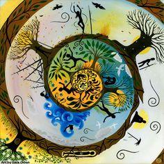 Art by Gaia Orion Mandala Art, Psychedelic Art, Art Positif, Zantangle Art, Art Visionnaire, Indigenous Art, Visionary Art, Sacred Geometry, Art World