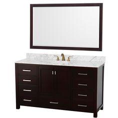 """WYNDHAM COLLECTION Abingdon 60"""" Single Bathroom Vanity Set - Espresso"""