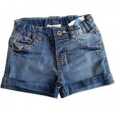 Bermuda Jeans Lacinho para Bebê Menina