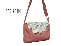 Sac Bandoulière Femme Bohème Rose avec Crochet Vintage : Sacs bandoulière par lefil