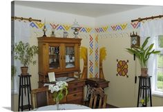 Interior of a traditional Latvian house circa 1925, Latvia, Baltic States