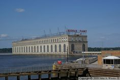 Lock and Dam 19- Keokuk, Iowa.  Largest lock on the Mississippi with electric plant listed on register of Historic Places- built in 1913.
