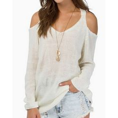 white cutout sweater all sizes New White knit cut out shoulder sweater all sizes for sale xs, s, m, l, Xl  pre order - will make a separate listing not nasty gal listed for exposure Nasty Gal Sweaters Crew & Scoop Necks
