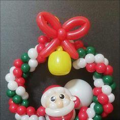 Balloon Decorations, Christmas Decorations, Twisting Balloons, Ornament Wreath, Ornaments, Christmas Balloons, Wreaths, Globes, Xmas