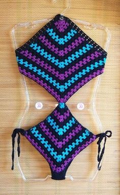 Diy Crochet Top, Beach Crochet, Crochet Quilt, Crochet Poncho, Crochet Baby, Crochet Border Patterns, Crochet Shoes Pattern, Crochet Bikini Pattern, Crochet Designs