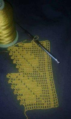 Easiest Crochet Frills Border Ever! Crochet Borders, Filet Crochet, Crochet Motif, Crochet Doilies, Easy Crochet, Crochet Stitches, Knit Crochet, Crochet Cluster Stitch, Knitting Patterns