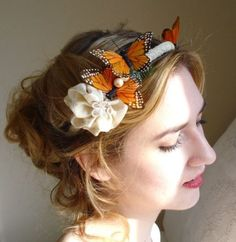 a lacy butterfly headband by thehoneycomb on Etsy