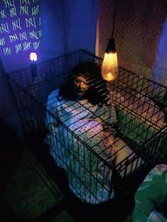 And we can put a live person in the crate in the haunted trail!!
