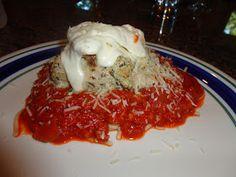 Pesto stuffed chicken parmesan