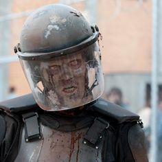 The Walking Dead Zombie in riot gear