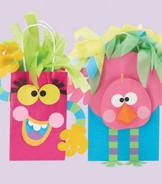 How cool are these fun gift bags??