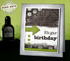 Cool masculine card - good for teens