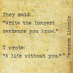Longest sentence she knows..
