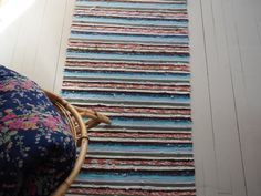 Recycled Fabric, Woven Rug, Recycling, Weaving, Rugs, Interior, Game, Home Decor, Rug Weaves