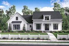 Country Craftsman Farmhouse Traditional Elevation of Plan 56912