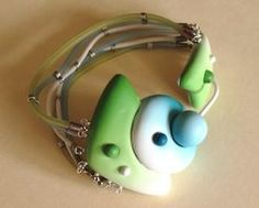 such an interesting closure #polymer #clay #jewelry