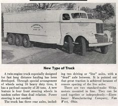 Eisenhauer -Chevrolet 5 Axle, Twin Steer, Twin Engine with 1941 to 1946 Cab