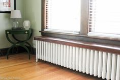 Radiator painting can be time consuming and tedious, but not with this tutorial! Lean how to paint a radiator the easy way! Save time and frustration. Small Living Rooms, Repurposed Furniture Diy, Radiator Cover, Furniture Diy, Build A Table, Furniture Makeover, House Design, Home Radiators, Next Furniture