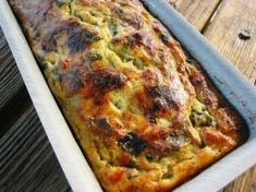Terrine of zucchini with herbs and Gruyère without gluten (We can add some . Healthy Dinner Recipes, Vegetarian Recipes, Cooking Recipes, Food In French, Salad Sauce, Family Meals, Food Inspiration, Love Food, Food And Drink