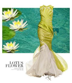 """""""Lotus Flower"""" by sharmarie ❤ liked on Polyvore featuring Rick Owens Lilies, Edie Parker, Versace and Bibhu Mohapatra"""