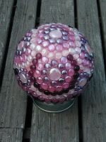 This was a pink swirly ball found by a friend in a house she is re-habbing. I covered it with expanded flower power (flower power with con...