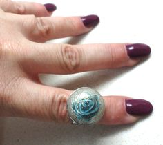Jewelry ring polymer clay adjustable ring flower ring - pinned by pin4etsy.com
