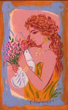 ΓΙΩΡΓΟΣ ΣΤΑΘΟΠΟΥΛΟΣ, Greek Contemporary Painter. Greek Drawing, Greece Painting, Popular Art, Greek Art, Learn To Paint, Artist Painting, Face Art, Great Artists, Illustration Art