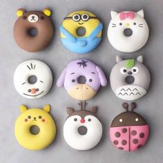 Cute donuts Donuts Cute desserts Cute baking Food Yummy food 15 which one Disney Desserts, Disney Food, Baking Desserts, Delicious Donuts, Yummy Food, Comida Disney, Cute Donuts, Donuts Donuts, Kreative Desserts