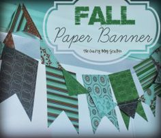 Fall Paper Banner www.thecraftyblogstalker.com Quick and Easy Fall Decoration