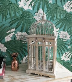 Your place to buy and sell all things handmade Vintage Birds, Bird Cage, All Things, Glass Vase, Handmade, Painting, Home Decor, Art, Compass