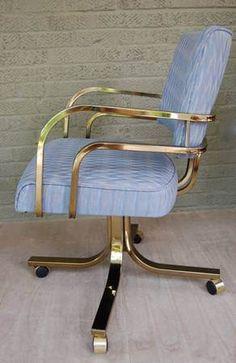 Hollywood Regency desk chair (reupholster in navy velvet...)