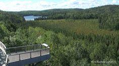 Visitors centre Observation Deck Algonquin Park in Ontario Canada
