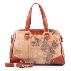 B Angel Women Map Design Retro Handbag - New Arrivals- - TopBuy.com.au