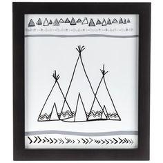 Sketched Teepee Framed Art