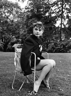 "summers-in-hollywood: ""Audrey Hepburn on the set of Sabrina, 1954. Photos taken by Dennis Stock """