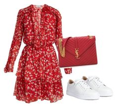 Featuring Christian Louboutin, Raquel Diniz and Yves Saint Laurent Classy Outfits, Chic Outfits, Spring Outfits, Dress Outfits, Casual Dresses, Fashion Dresses, Summer Outfit, Look Fashion, Womens Fashion